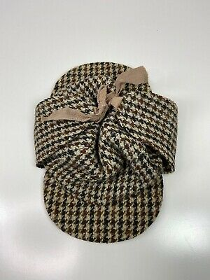 Dunn & Co Great Britain Houndstooth Wool Hat Size 6 5/8 54