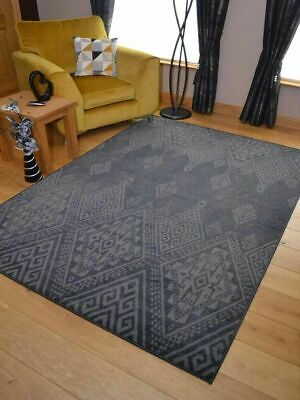 Black Grey Silver Small Extra Large Big Huge Size Floor Carpet Rug Mat Cheap