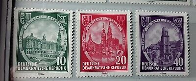 East DDR  1956    750th anniversary of Dresden, set of 3 unmounted mint stamps