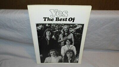 YES the best of Songbook, Notenbuch, Partition 1980 BE OCCASION prog rock rare