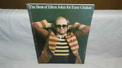 ELTON JOHN FOR EASY GUITAR songbook, Notenbuch, Partition 1978 BE OCCASION rare