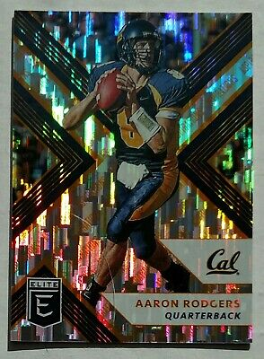 2018 AARON RODGERS Cal/Green Bay Packers ORANGE Aspirations RAIN refractor