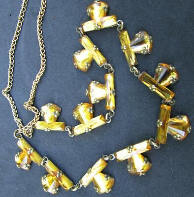 Art Deco Bohemian Mirrored Vauxhall Glass  Beads Necklace