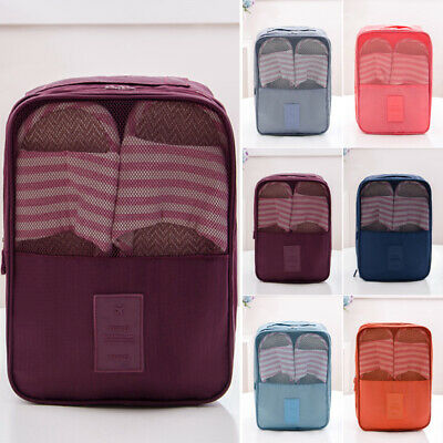 Waterproof Oxford Travel Pouch Shoe Storage Solid Color Zipper Shoes Storage Bag