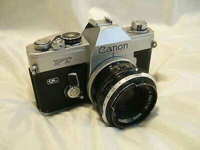 CANON FT QL 35mm SLR Film Camera With CANON FL 50mm 1:1.8 Lens