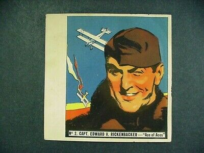 1936 History Of Aviation Series  Goudey Gum Co. Card - #2 Edward V. Rickenbacker