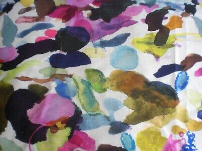 "Bluebellgray Fabric ""JAMES SUMMER"" 200 X 142 cm Linen blend"