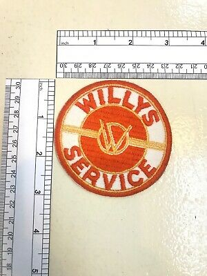 Vintage Willy's Service  Patch, NOS, Embroidered 1950'S RARE 3 x 3 INCHES