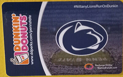 2014 Dunkin Donuts Penn State University Nittany Lions gift card