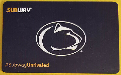2017 Penn State Nittany Lions Subway gift card