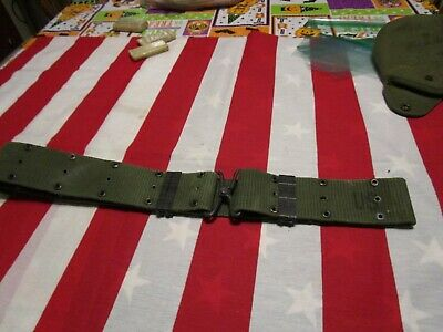 Vietnam US Army USMC pistol web belt LARGE utility belt M-1956 field gear