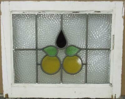 "OLD ENGLISH LEADED STAINED GLASS WINDOW Gorgeous Abstract Design 22.5"" x 18.25"""