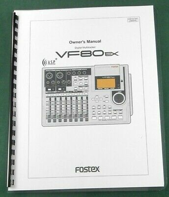 Fostex M80 Instruction Manual Comb Bound with Protective Covers!