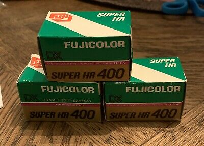Fuji Fujicolor DX Super HR 400 Color Film 35mm 24 Exposures 3 Rolls Exp 1989
