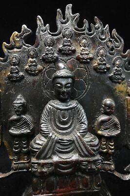 Top Quality Fine Old Chinese Bronze Buddha Stand Statues Sculpture