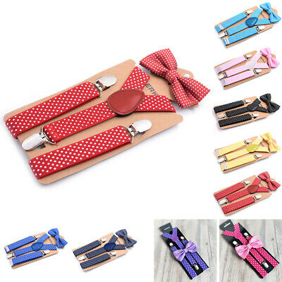 Children Suspenders Kids Toddlers Wedding Straps Y-Back Stylish Suspenders