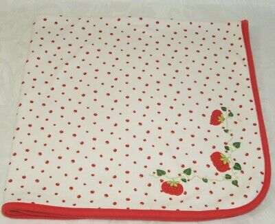 Gymboree Red White Tomato Baby Receiving Blanket Does Your Garden Grow 2007