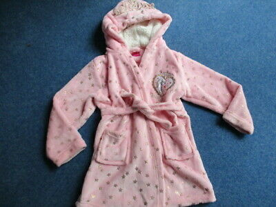GORGEOUS THICK CUDDLY DISNEY Princess Girl's Hooded Dressing Gown 7 Yrs