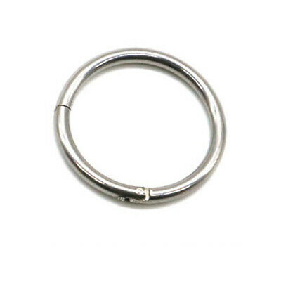1PC 6mm Hinged Septum Clicker Nose Ring Ear Segment Helix Tragus Surgical Steel