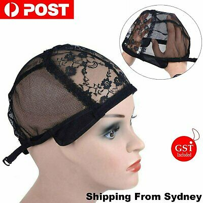 Lace Mesh Wig Cap For Making Wigs Hair Weaving Stretch Adjustable Straps Bonnet