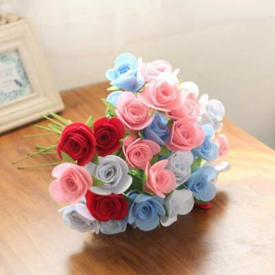 Handmade Non-Woven Bouquet Cut-Free DIY Flower Crafts Material Package New