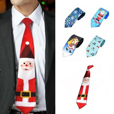 Mens Christmas MUSICAL TIE Fancy Dress Novelty Xmas Office Party Secret Gift