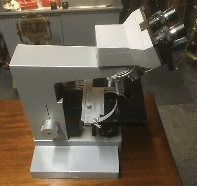 Leitz Weitzlar SM-Lux Microscope 5 Objectives Nice Clean Condition