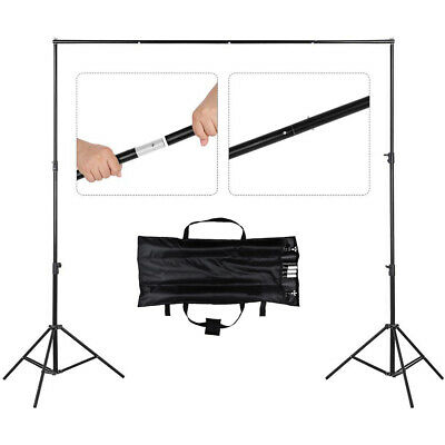 2x2m Photo Backdrop Stand Adjustable Photo Background Support Stand +3 Clamps
