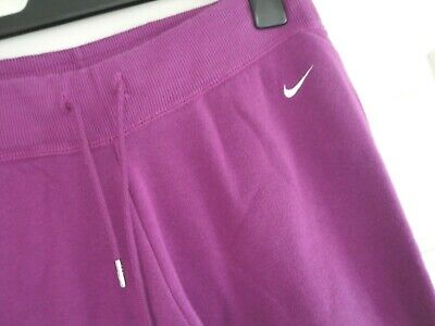 Nike Joggers Tracksuit Bottoms Ladies Girls Size Medium 10 - 12 Purple