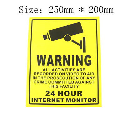 CCTVSecurity Camera System Warning Sign Stickers Decals Surveillance 200mm*250mm