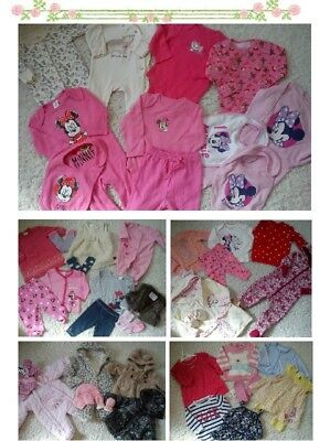 51x NEW USED BUNDLE OUTFITS MINNIE NEXT GIRL 0/3 MTHS 3/6M PHOTOS IN DESCRIPTION