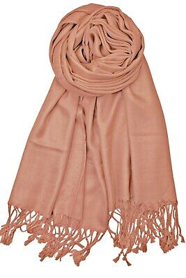 New Ladies  Plain Pashmina Scarf Viscose Wrap Shawls Hijabs **Factory Seconds**