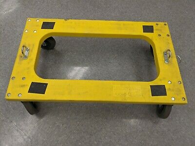 """Plastic Dolly with Flush Deck, 5"""" Casters, Lot of 1 cart"""