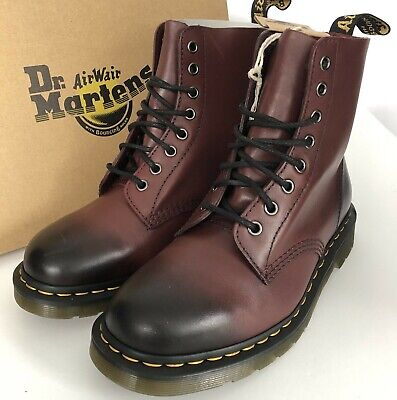 Dr Martens 1460 Pascal Antique Temperley Boots UK 7/41 Leather 8 Eye Cherry Red
