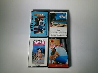 Vintage All the best from Hawaii Music 4 Cassettes  Aloha