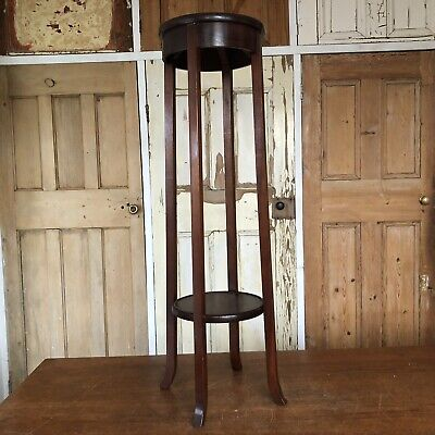 Vintage Mahogany Torchere Plant Stand Jardiniere Display Stand