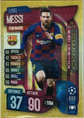 Match Attax 2019/20 LIONEL MESSI Hat-Trick Hero No.315 Topps Barcelona 19/20