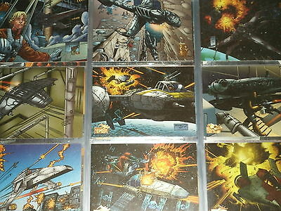 STAR WARS VEHICLES Complete Trading Card Collection: Base Set & Rare Chase Cards