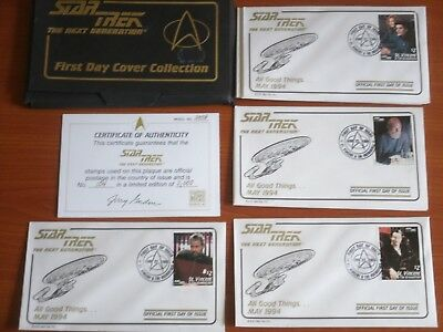 Star Trek The Next Generation 1st Day Cover Stamp Collection 'All Good Things'