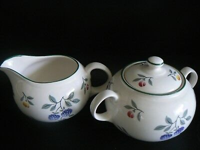 Royal Stafford TOSCANA Sugar Bowl & Milk Jug 1st Quality Excellent Condition