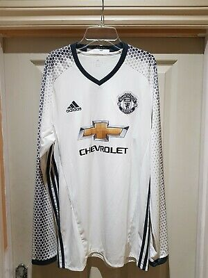 MANCHESTER UNITED LONG SLEEVED THIRD SHIRT 2016/17 Size L