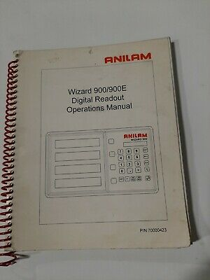 Anilam  Wizard Series 900/900E Manual