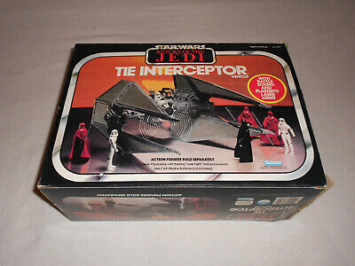 Star Wars Vintage Tie Interceptor Vehicle Rotj Kenner With Box