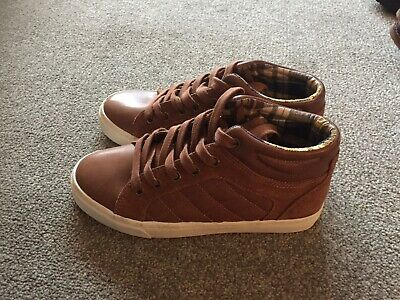 Boys Brown Marks And Spencer Trainers Size 3
