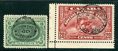 Weeda Canada E1/E6 F-VF used Special Delivery issues collection CV $96.50