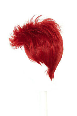 3/'/' Short Spiky Combed Back Wig with no Part Rust Brown Cosplay Wig NEW