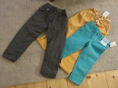 3 x NEW pairs of girls trousers from Next & Cat & Jack age 5 - 6 years