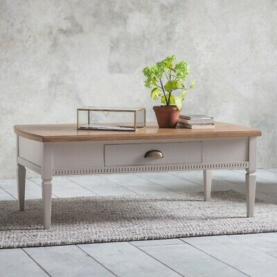 Gallery Direct Bronte Taupe Storage Coffee Table - 1 Drawer from little woods