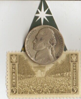 """*Two  WW2-SILVER *us+*german Coins/STAMP of """"U-125"""" Boat Commander"""