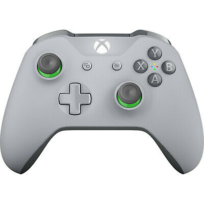 Official Microsoft Xbox One Gray Green Controller Wireless Bluetooth Windows 10